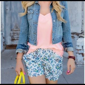 E by Eloise floral scalloped shorts